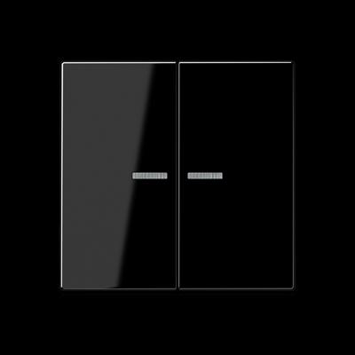 Клавіші з віконцем Серія А для двоклавішного вимикача з підсвіткою Білі
