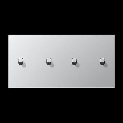 Накладка 2-постова для вимикача з 4-ма тумблерами «циліндр», горизонтальна ME12-250CR25