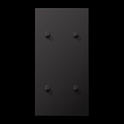 Накладка 2-постова для вимикача з 4-ма тумблерами «циліндр», вертикальна ME12-25CR25