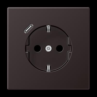 Розетка LS 990 SCHUKO з USB-інтерфейсом type C Біла