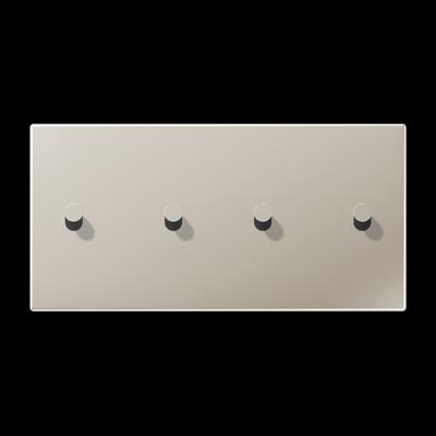 Накладка 2-постова для вимикача з 4-ма тумблерами «конус», горизонтальна ME12-250CK25