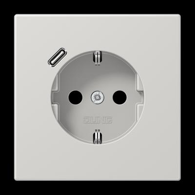 Розетка SCHUKO з USB тип C LS1520-18CWW