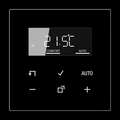 Дисплей для електронного кімнатного термостату Серія LS Чорний