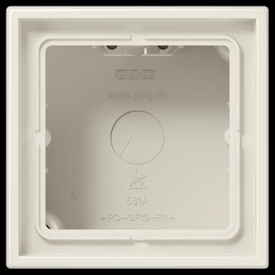 Коробка накладного монтажу LS CUBE 1-на Біла