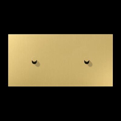 Накладка 2-постова для вимикача з 2-ма тумблерами «конус», горизонтальна ME12-200CK25