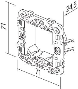 Монтажний суппорт з лапками 2 модуля NM20