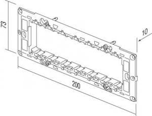 Монтажний суппорт італійський стандарт 7 модулів NM70