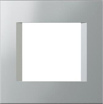 Декоративна рамка пластикова колір срібний металік серія Line 2 модуля OL20ES