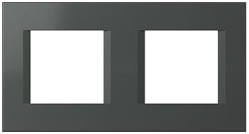 Декоративна рамка пластикова колір антрацит серія Line німецький стандарт 2х2 модуля OL24AT