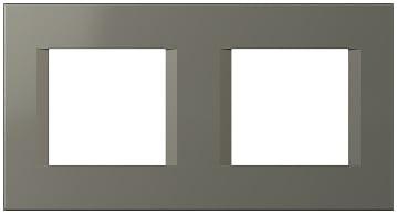 Декоративна рамка пластикова колір титан серія Line німецький стандарт 2х2 модуля OL24TI