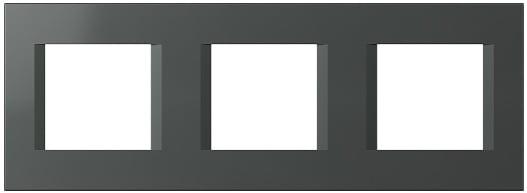 Декоративна рамка пластикова колір антрацит серія Line німецький стандарт 3х2 модуля OL26AT