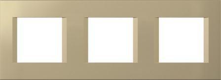 Декоративна рамка пластикова колір золотий металік серія Line німецький стандарт 3х2 модуля OL26SG