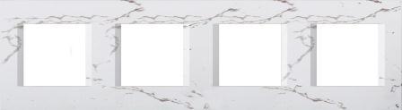 Декоративна рамка пластикова колір білий камінь серія Line німецький стандарт 4х2 модуля OL28SW