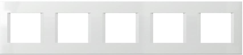 Декоративна рамка пластикова колір сніжно-білий серія Line німецький стандарт 5х2 модуля OL29PW