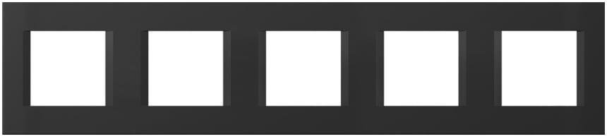 Декоративна рамка пластикова колір чорний матовий серія Line німецький стандарт 5х2 модуля OL29SB