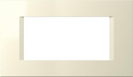 Декоративна рамка пластикова колір слонова кістка серія Line італійський стандарт 4 модуля OL40IW