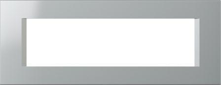 Декоративна рамка пластикова колір срібний металік серія Line італійський стандарт 7 модулів OL70ES