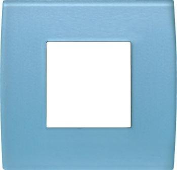 Декоративна рамка скляна колір блакитний лід серія PURE 2 модуля OP20GB