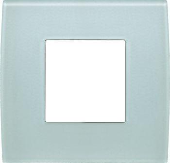Декоративна рамка скляна колір зелений лід серія PURE 2 модуля OP20GG
