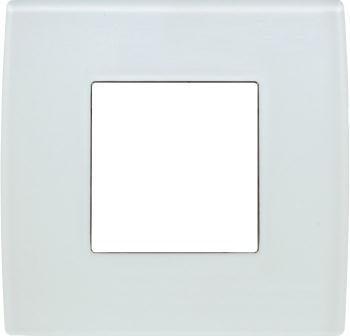 Декоративна рамка скляна колір білий лід серія PURE 2 модуля OP20GW