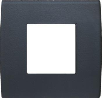 Декоративна рамка скляна колір сірий лід серія PURE 2 модуля OP20GY