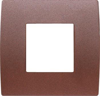 Декоративна рамка металева колір зістарений метал серія PURE 2 модуля OP20ME