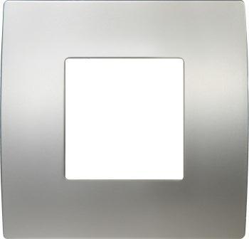 Декоративна рамка металева колір сатиноване срібло серія PURE 2 модуля OP20MS