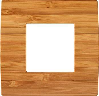 Декоративна рамка дерев'яна бамбук серія PURE 2 модуля OP20WB