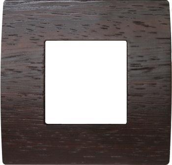 Декоративна рамка дерев'яна венге серія PURE 2 модуля OP20WE