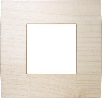 Декоративна рамка дерев'яна клен серія PURE 2 модуля OP20WM
