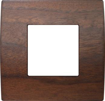 Декоративна рамка дерев'яна горіх серія PURE 2 модуля OP20WW