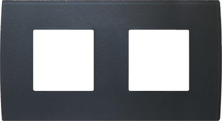 Декоративна рамка скляна колір сірий лід серія PURE німецький стандарт 2х2 модуля OP24GY
