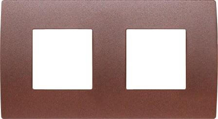 Декоративна рамка металева колір зістарений метал серія PURE німецький стандарт 2х2 модуля OP24ME