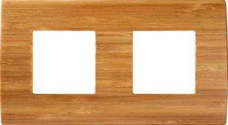 Декоративна рамка дерев'яна бамбук серія PURE німецький стандарт 2х2 модуля OP24WB