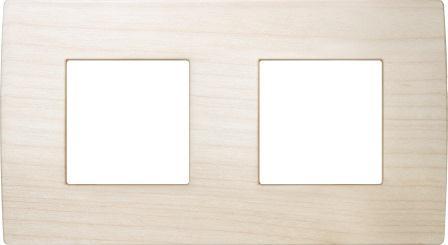 Декоративна рамка дерев'яна клен серія PURE німецький стандарт 2х2 модуля OP24WM