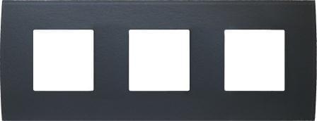 Декоративна рамка скляна колір сірий лід серія PURE німецький стандарт 3х2 модуля OP26GY