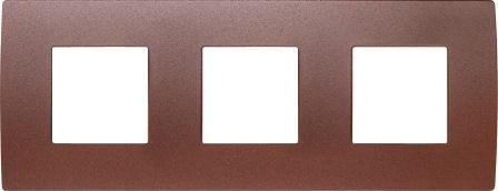 Декоративна рамка металева колір зістарений метал серія PURE німецький стандарт 3х2 модуля OP26ME