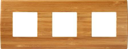 Декоративна рамка дерев'яна бамбук серія PURE німецький стандарт 3х2 модуля OP26WB