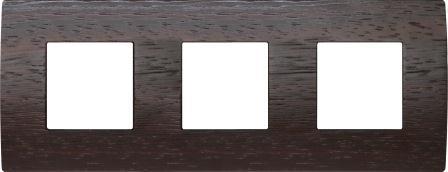 Декоративна рамка дерев'яна венге серія PURE німецький стандарт 3х2 модуля OP26WE