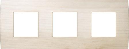 Декоративна рамка дерев'яна клен серія PURE німецький стандарт 3х2 модуля OP26WM