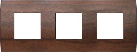 Декоративна рамка дерев'яна горіх серія PURE німецький стандарт 3х2 модуля OP26WW