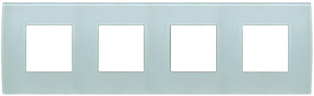 Декоративна рамка скляна колір зелений лід серія PURE німецький стандарт 4х2 модуля OP28GG