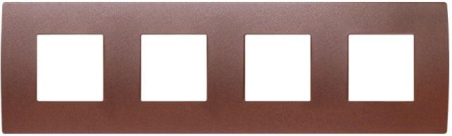 Декоративна рамка металева колір зістарений метал серія PURE німецький стандарт 4х2 модуля OP28ME