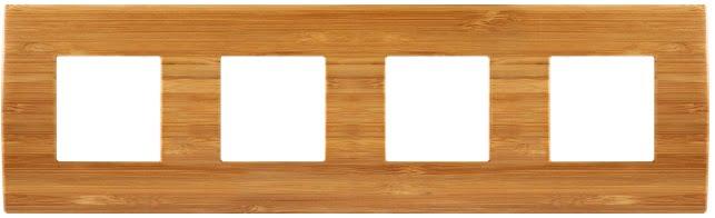 Декоративна рамка дерев'яна бамбук серія PURE німецький стандарт 4х2 модуля OP28WB