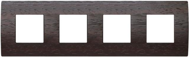 Декоративна рамка дерев'яна венге серія PURE німецький стандарт 4х2 модуля OP28WE