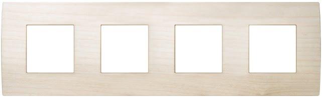 Декоративна рамка дерев'яна клен серія PURE німецький стандарт 4х2 модуля OP28WM
