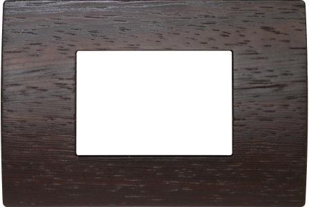 Декоративна рамка дерев'яна венге серія PURE італійський стандарт 3 модуля OP30WE