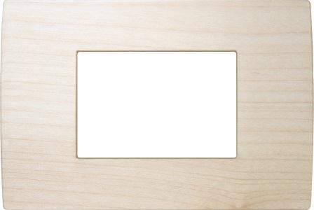 Декоративна рамка дерев'яна клен серія PURE італійський стандарт 3 модуля OP30WM