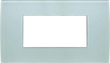 Декоративна рамка скляна колір зелений лід серія PURE італійський стандарт 4 модуля OP40GG