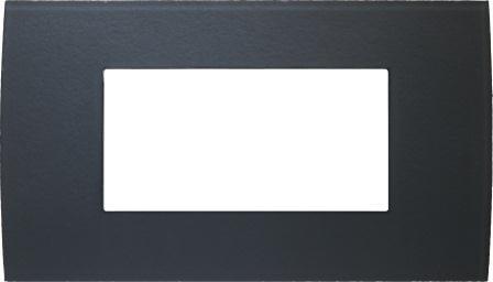 Декоративна рамка скляна колір сірий лід серія PURE італійський стандарт 4 модуля OP40GY